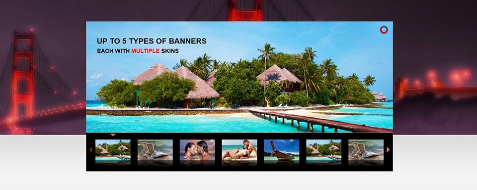Thumbnails Slider - Website Boxed Size - Cool Skin