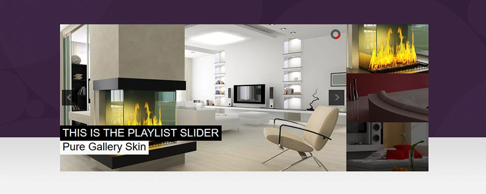 Playlist Slider - Website Boxed Size - Pure Gallery Skin