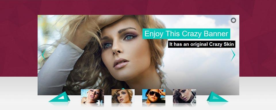 Thumbnails Slider - Website Boxed Size - Crazy Skin