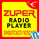 Zuper - Shoutcast and Icecast Radio Player With History - WP Plugin